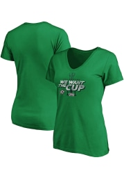 Dallas Stars Womens Kelly Green 2020 Stanley Cup Final Participant Short Sleeve T-Shirt
