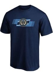 Philadelphia Union Navy Blue Iconic Angular Short Sleeve T Shirt