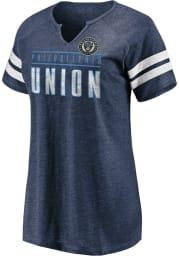 Philadelphia Union Womens Navy Blue Triblend Short Sleeve T-Shirt