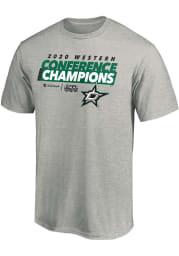 Dallas Stars Grey 2020 NHL Conference Champs Locker Room Short Sleeve T Shirt