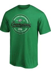 Dallas Stars Kelly Green 2020 NHL Conference Champs Pivot Short Sleeve T Shirt