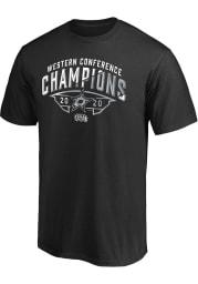 Dallas Stars Black 2020 NHL Conference Champs Winter Storm Short Sleeve T Shirt
