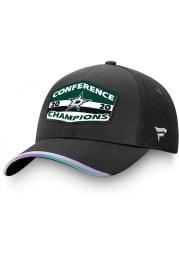 Dallas Stars 2020 NHL Conference Champs Locker Room Adjustable Hat - Black
