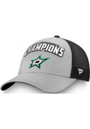 Dallas Stars 2020 NHL Conference Champs Meshback Adjustable Hat - Grey