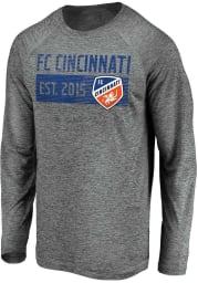 FC Cincinnati Grey Block Long Sleeve T-Shirt