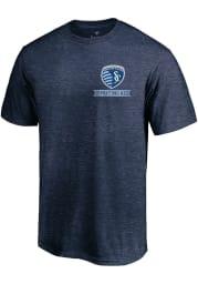 Sporting Kansas City Navy Blue Crest Short Sleeve T Shirt