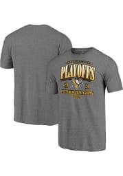Pittsburgh Penguins Charcoal Ring The Alarm Short Sleeve Fashion T Shirt