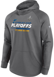 St Louis Blues Mens Grey Playoff Participant Speed Hood