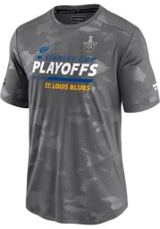 St Louis Blues Grey Playoff Participant Speed Short Sleeve T Shirt