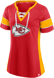 Patrick Mahomes Kansas City Chiefs Womens Athena Fashion Football Jersey - Red
