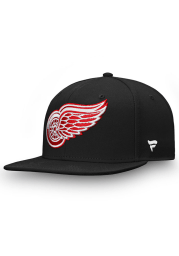 Detroit Red Wings Black Core Mens Snapback Hat