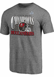 Tampa Bay Buccaneers Grey Super Bowl LV Champions Nickel Short Sleeve Fashion T Shirt