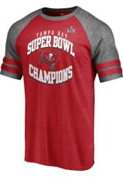 Tampa Bay Buccaneers Red Super Bowl LV Champions Quarterback Short Sleeve Fashion T Shirt
