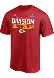 Kansas City Chiefs Red 2020 Division Champs Flying High Short Sleeve T Shirt