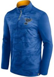 St Louis Blues Mens Blue Shade Lightweight Long Sleeve 1/4 Zip Pullover