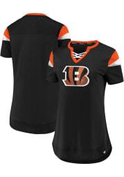 Cincinnati Bengals Womens Athena Fashion Football Jersey - Black