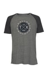 Dallas Charcoal Coordinates Short Sleeve T Shirt