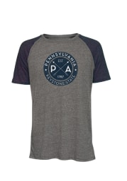 Pennsylvania Dark Charcoal Circle Graphic Short Sleeve T Shirt