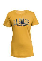 La Salle Explorers Womens Gold Bestie Short Sleeve T-Shirt