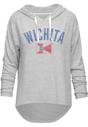 Wichita Womens Grey Flag Long Sleeve Light Weight Hood