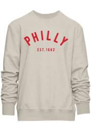 Philadelphia Mens Oatmeal All Star Long Sleeve Crew Sweatshirt