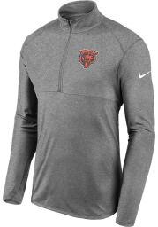 Nike Chicago Bears Mens Grey Element Long Sleeve 1/4 Zip Pullover