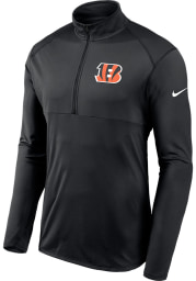 Nike Cincinnati Bengals Mens Black Element Long Sleeve 1/4 Zip Pullover