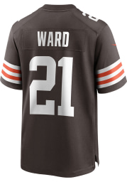 Denzel Ward Nike Cleveland Browns Brown Home Game Football Jersey