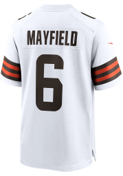 Baker Mayfield Nike Cleveland Browns White Road Game Football Jersey