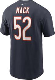 Khalil Mack Chicago Bears Navy Blue Name Number Short Sleeve Player T Shirt