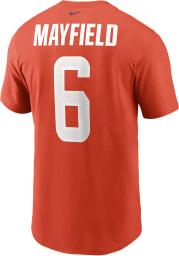 Baker Mayfield Cleveland Browns Orange Name Number Short Sleeve Player T Shirt