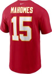 Patrick Mahomes Kansas City Chiefs Red Name Number Short Sleeve Player T Shirt