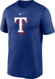 Nike Texas Rangers Blue Logo Legend Short Sleeve T Shirt