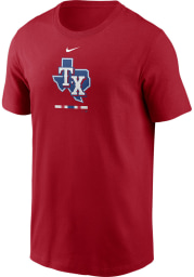 Nike Texas Rangers Red Legacy Short Sleeve T Shirt