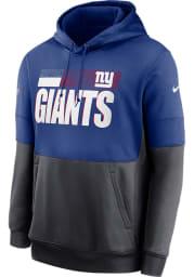 Nike New York Giants Mens Blue Sideline Therma Team Name Hood