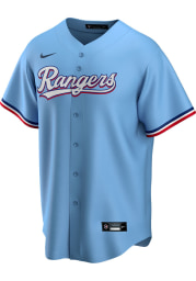 Texas Rangers Mens Nike Replica 2020 Alternate Jersey - Light Blue
