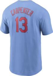 Matt Carpenter St Louis Cardinals Light Blue Name And Number Short Sleeve Player T Shirt