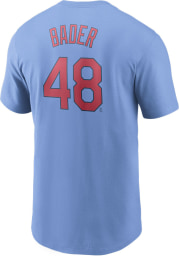 Harrison Bader St Louis Cardinals Light Blue Name And Number Short Sleeve Player T Shirt