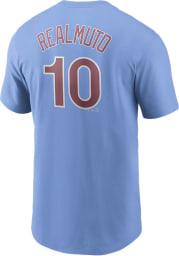 JT Realmuto Philadelphia Phillies Light Blue Name Number Short Sleeve Player T Shirt