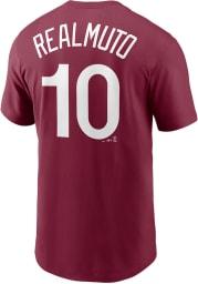 JT Realmuto Philadelphia Phillies Maroon Name Number Short Sleeve Player T Shirt