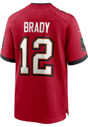 Tom Brady Nike Tampa Bay Buccaneers Red Home Game Football Jersey