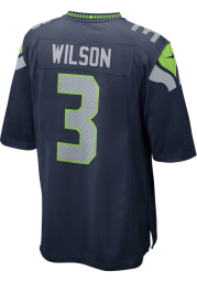 Russell Wilson Nike Seattle Seahawks Navy Blue Home Game Football Jersey