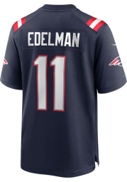 Julian Edelman Nike New England Patriots Navy Blue Home Game Football Jersey