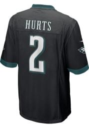 Jalen Hurts Nike Philadelphia Eagles Black Rookie Alternate Game Football Jersey