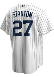 Giancarlo Stanton New York Yankees Mens Replica 2020 Home Jersey - White