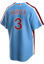 Bryce Harper Philadelphia Phillies Mens Replica 2020 Throwback Jersey - Light Blue