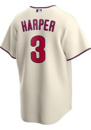 Bryce Harper Philadelphia Phillies Mens Replica 2020 Alternate Jersey - Ivory