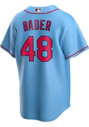 Harrison Bader St Louis Cardinals Mens Replica 2020 Alternate Jersey - Light Blue