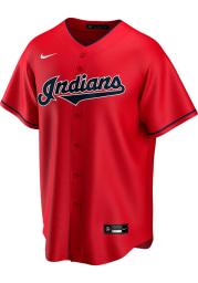 Cleveland Indians Mens Nike Replica 2020 Alternate Jersey - Red