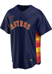 Houston Astros Mens Nike Replica 2020 Alternate Jersey - Navy Blue